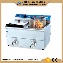 double tank commercial electric chicken chips fryer DF-12L-2