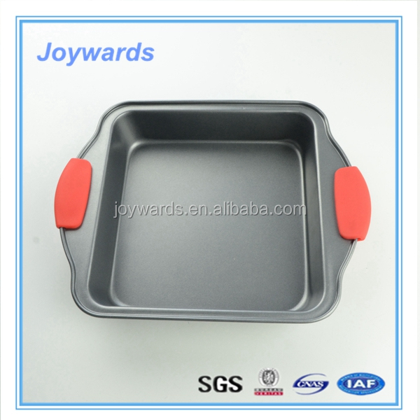 Best quality custom-made shallow non-stick cake baking carbon steel pan for microwave