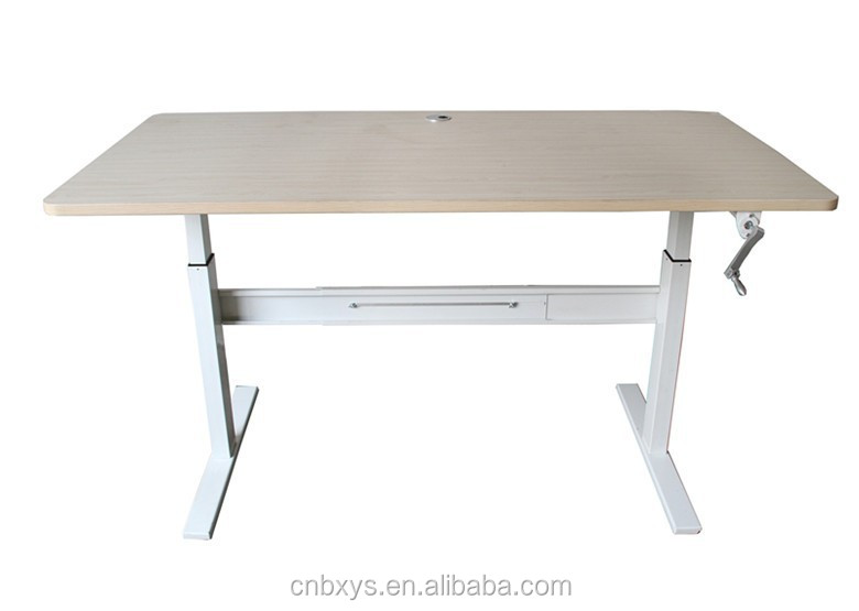 China stand-up desk with height adjustable function and width telescoping
