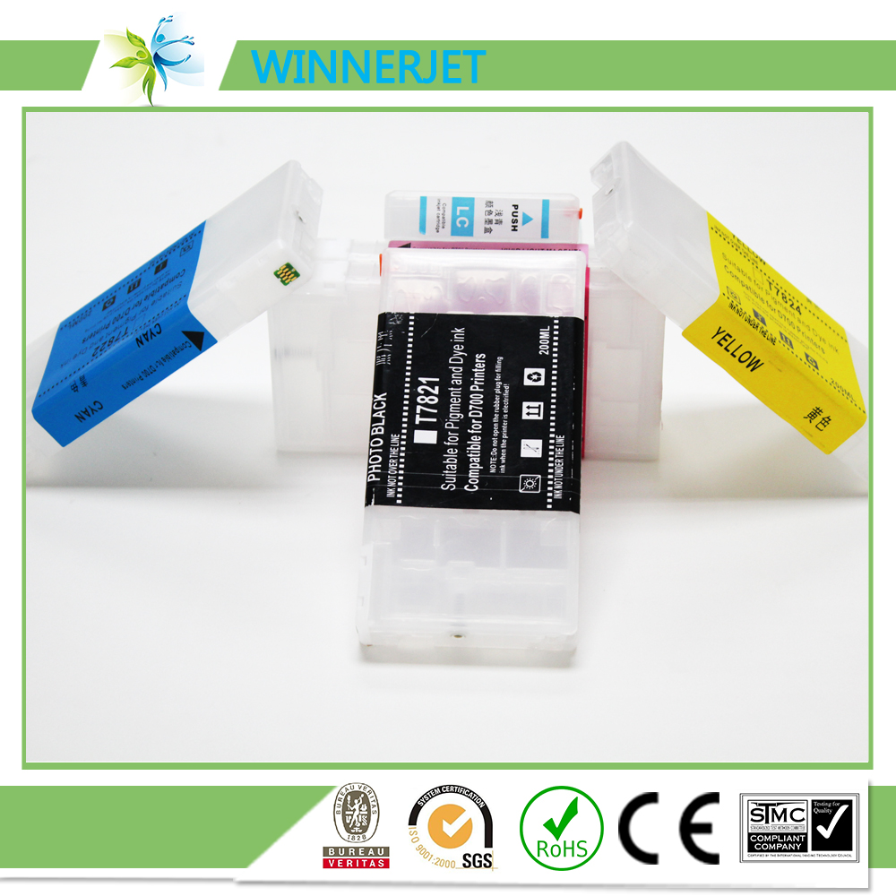 new technology refilling ink cartridge compatible for epson surelab D700, ink cartridge for epson printer