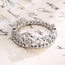 High Quality Fashion Jewelry Engraved crystal Diamond Gold Ring Designs in china