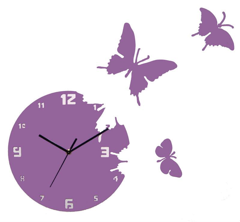 papillon forme belle conception noir horloge murale ronde horloge murale id de produit. Black Bedroom Furniture Sets. Home Design Ideas