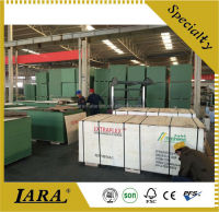 High quality ISO9001 18mm 1250*2500mm film faced plywood with logo/mela direct sale