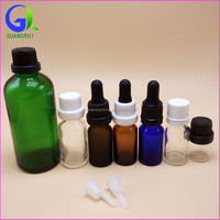 15ml essential oil glass bottles with plastic lip and cap wholesale China manufacturer