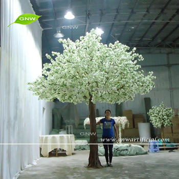 GNW BLS1707003 Hot sale ivory big artificial indoor cherry blossom tree for wedding backdrop