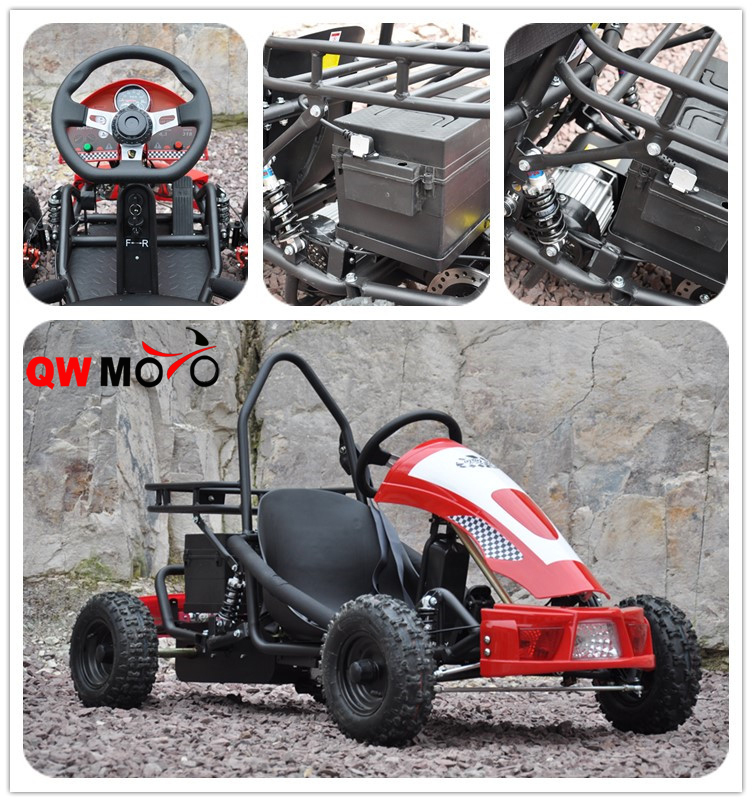 New 2016 500W 48V Electric Mini Racing Go Kart for Kids