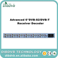 Cable tv headend system 6 DVBS2 RF hd decoder to av converter connect with analog catv modulator