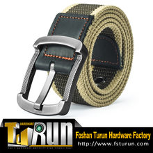 Metal Pin Buckle 100% Nylon Mens Canvas Belts