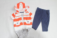 baby garment romper set with hood infant clothing baby romper