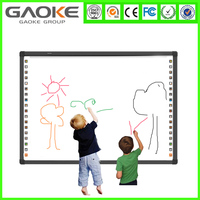 Gaoke IWB Finger touch digital Classical School classroom touch screen optical frame whiteboard
