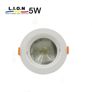 Hot sale smd residential plastic single integrated ip44 led downlight 5w