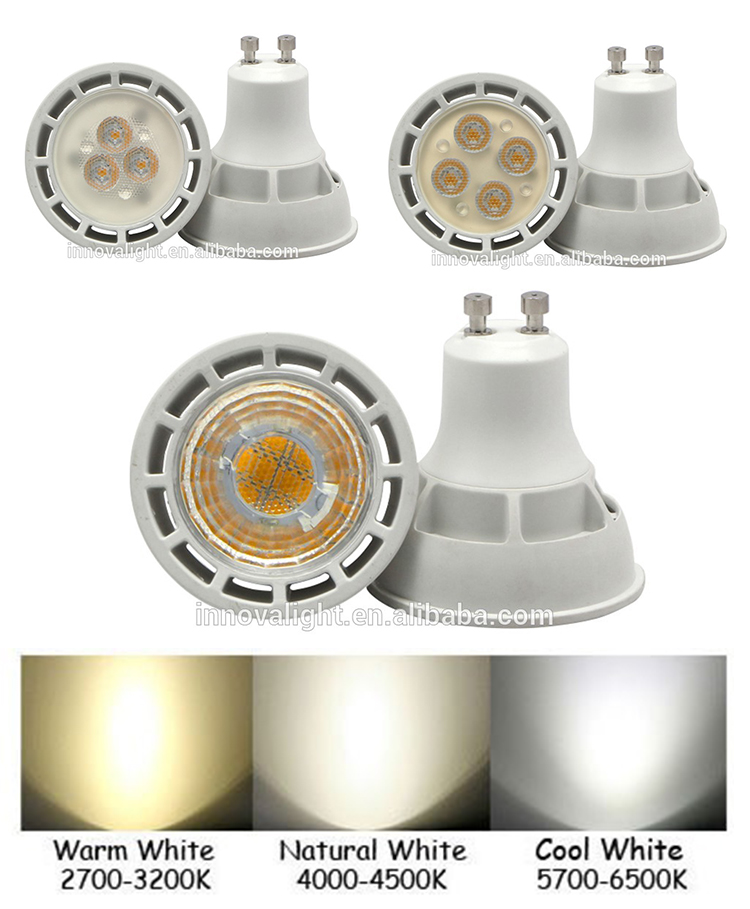 INNOVALIGHT Thermal Plastic 5w gu10 energy save lamp spotlight led lighting