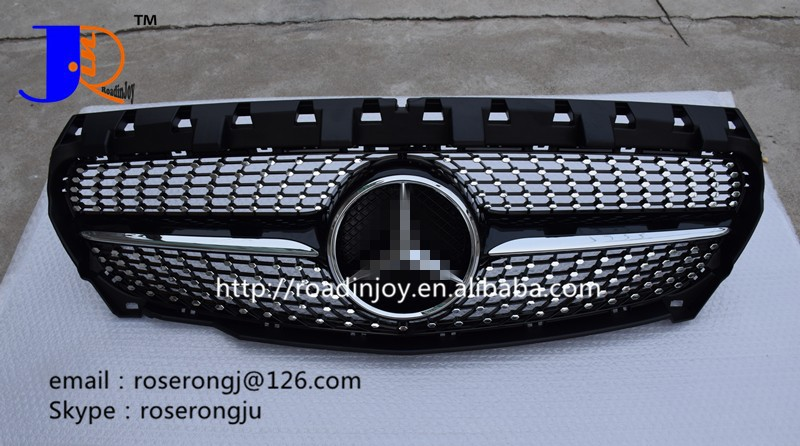 AUTO SPARE PARTS CAR GRILLE FOR B ENZ C117 CLA45 FULL STAR GRILLE