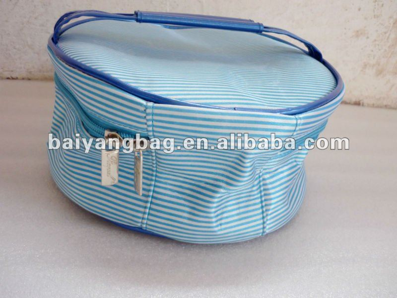 Blue polyester cosmetic case