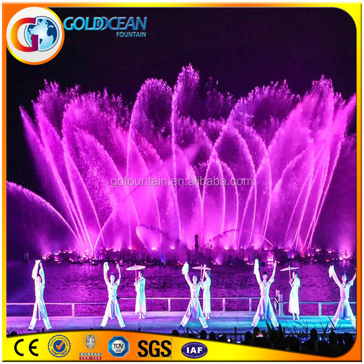Beautiful Music Dancing Water Fountain With Led Lights Night Show