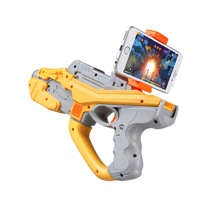 HTOMT crystal water bullet gun toy 2017 Best Selling bluetooth toy gun ABS plastic irtual reality games plastic ar gun
