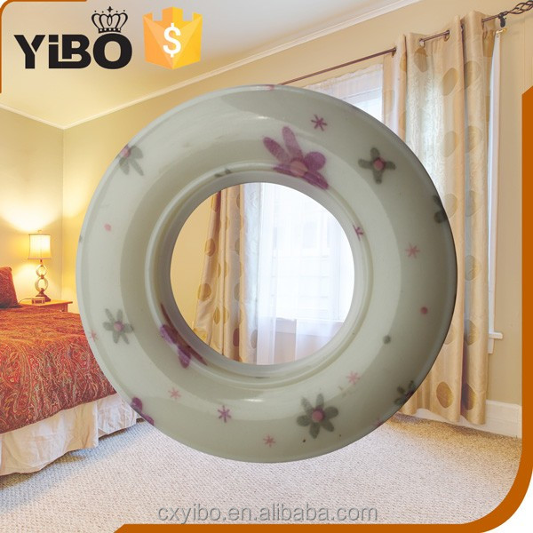 YiBo Multicolor Round Plastic ceiling mount shower curtain trackshower curtain rod double track