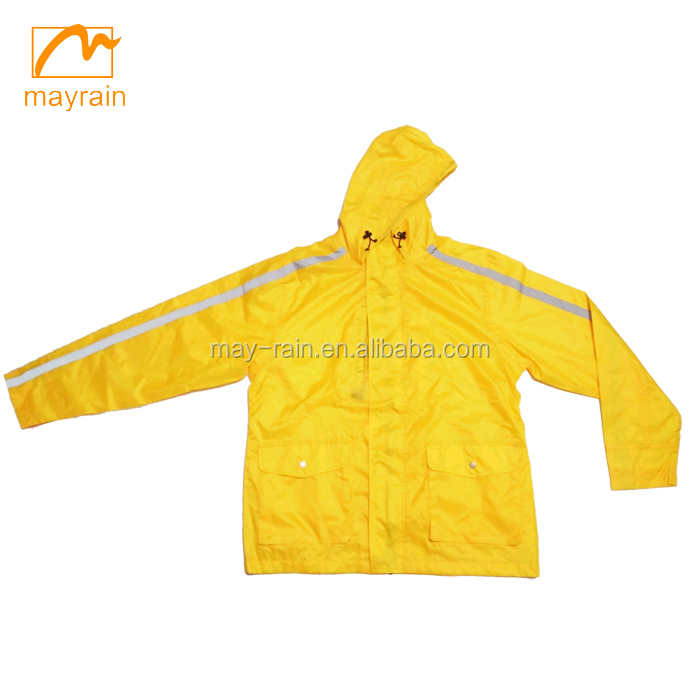 Custom One Piece Rain Suit with reflective strip, motorcycle rain suit