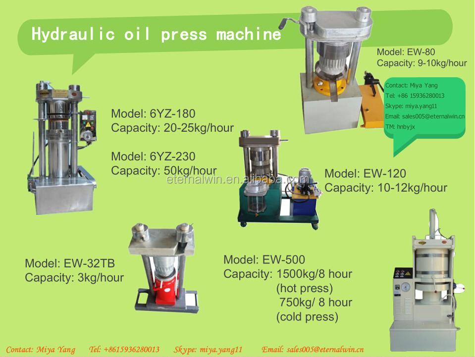 Small Mini Hydraulic Oil Press Machine Cold Press Virgin