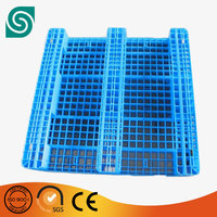 Qualified 1111/1210/1412 double-sided mesh plastic pallet with steels insert
