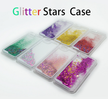 Colorful bling bling liquid stars flowing glitter case for iphone moving glitter case for iphone 6