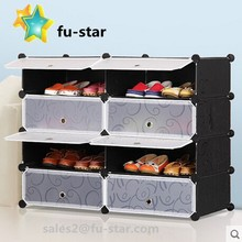 DIY Home Storage Cube Shoes Organizer Cabinet Shelf, Variety Colors (8) Cubitbox Diy Organizer Plastic Shoe Storage Cabinet