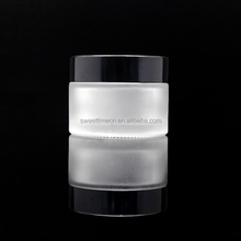 made in china factory cream glass jar frosted 30ml cosmetic packaging bottles
