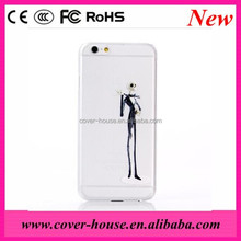 Multi-style Skull Man Cases Transparent Crystal Clear PC Plastic Cell Phone Case for iPhone 6 Plus