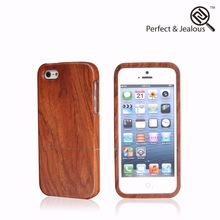 Color printing Real wood wood aluminum metal bumper luxury case for iphone5 5s