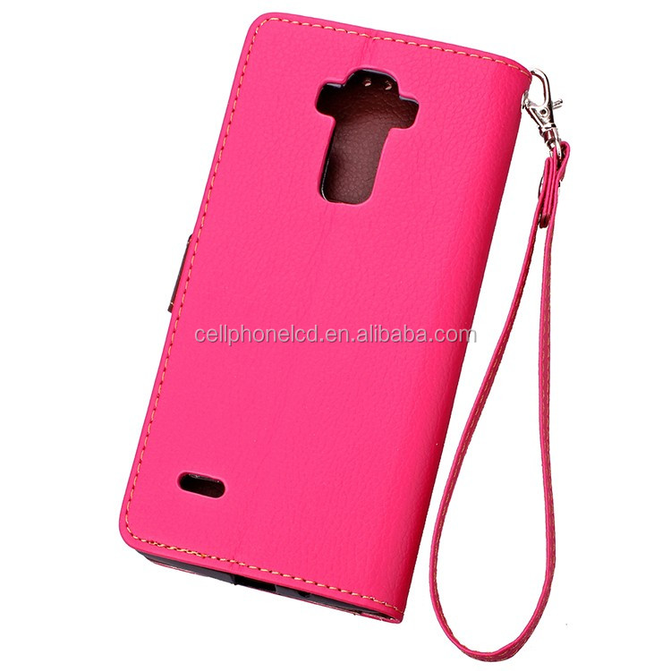 OEM Accepted Stand Phone Case for LG G4 Stylus PU Flip Cover