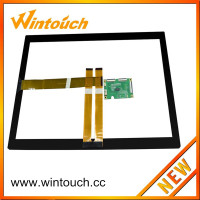 19 inch Multi Point capacitive film for touch screen With Usb or RS232 Controller board