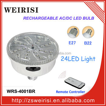 Rechargeable AC/DC LED Ceiling Light with Remote Controller E27/B22 (WRS-4001BR)