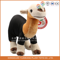 Custom 15cm Plush Animal Toy Mini Camel Stuffed Toys with Clothes