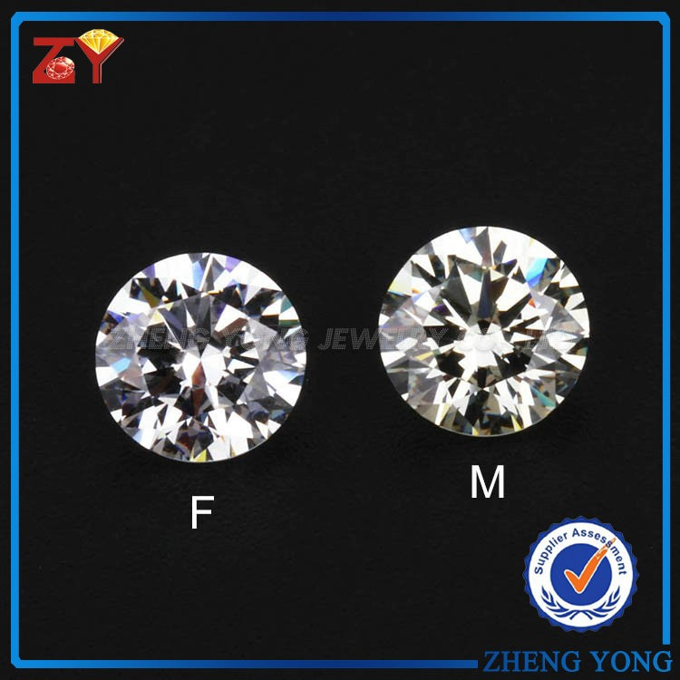 Moissanite per carat price, round machine cut moissanite for engagement ring