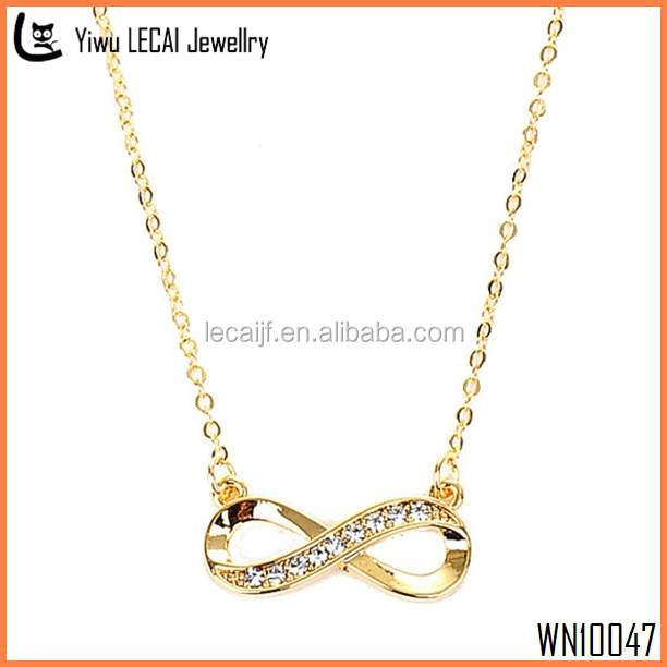 On Sale Gold Rhinestone Infinity Necklace | Tiny Infinity Necklace | Forever Necklace , Infinity Pendant Necklace
