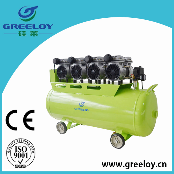 220v oil free silent piston cng compressor with energy saving motor