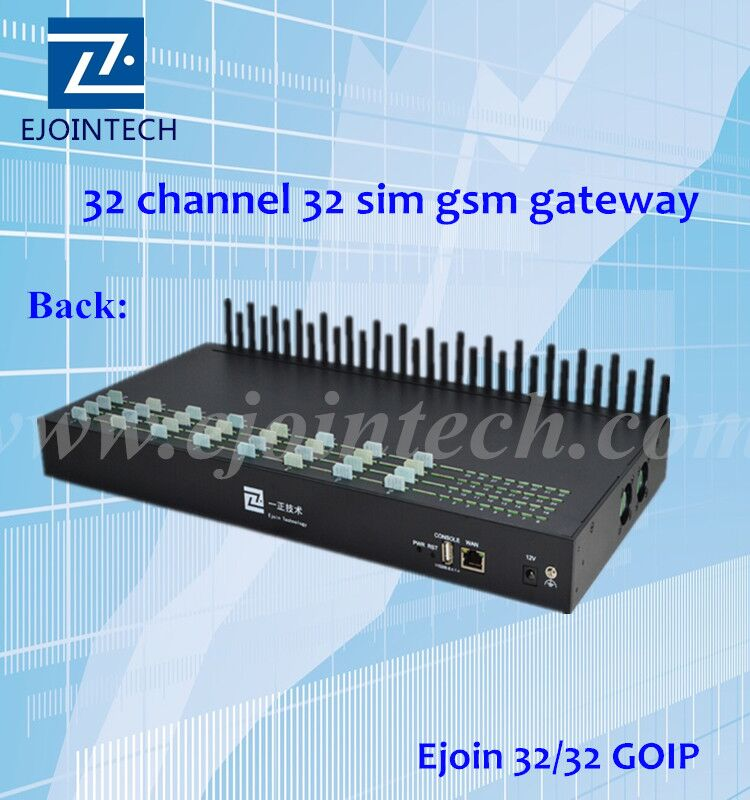 promotion ejoin 32 channels voip gsm gateway for unlimited internet call