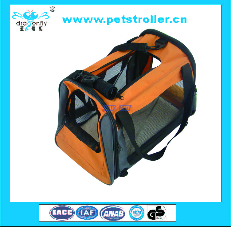 2016 new arrival portable folding Pet Soft Crate dog carrier with belt