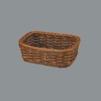 Wholesale Popular Design plastic bread storage poly rattan basket