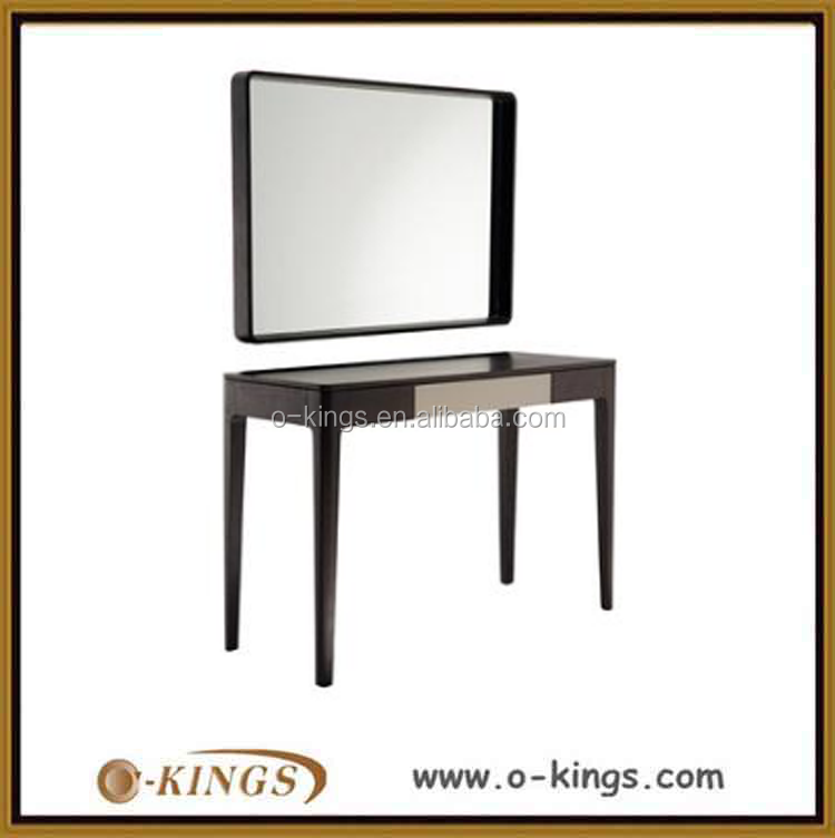 modern simple design hotel dressing table with mirror