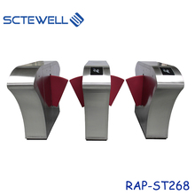 Smart High Speed Pedestrian Control Electronic Flap Barrier Gate / Glass Turnstiles