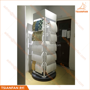 High Capacity Four Side Revolving Mosaic Tile Sample Display Stand for Showroom and Exhibition-MM015