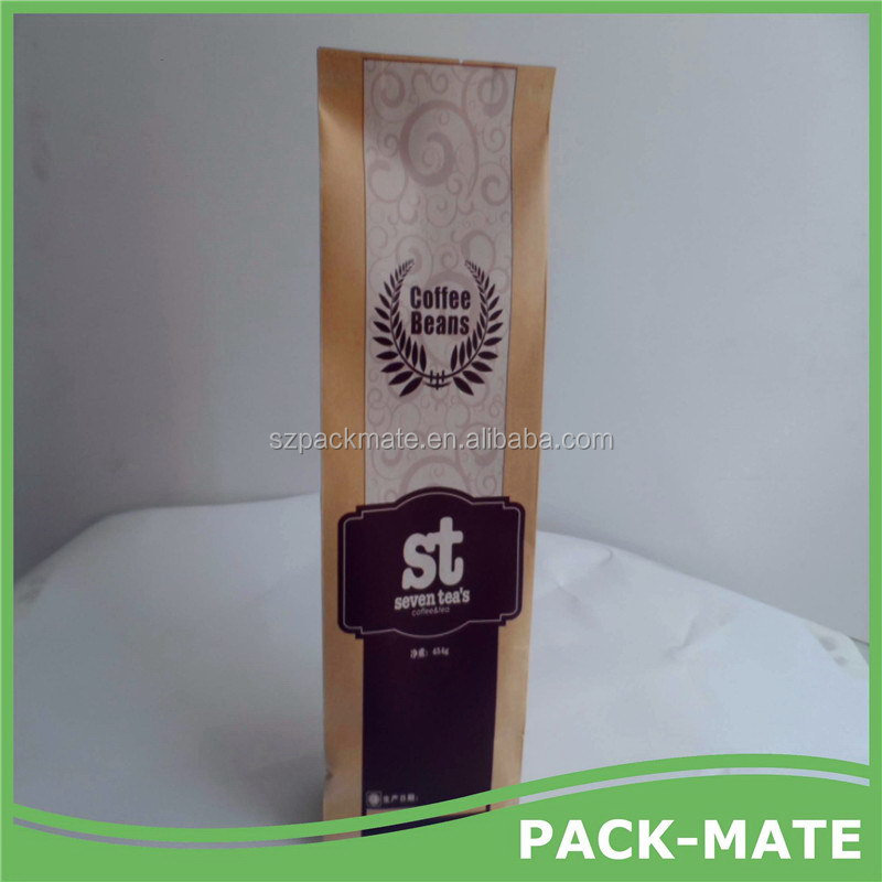 Super quality Best-Selling coffee packaging bags aluminum brown