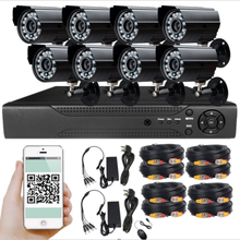 Wholesale 4CH H.264 CCTV Security System Cheap DIY 8CH CCTV Home Surveillance DVR Kit H.264 Security Kit with 4 Cameras