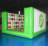 4D interactive fun inflatable giant twister game for adults n children