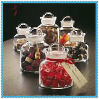 Airtight Coffee Baby Capped Fancy Storage Mason Sauce Spice Unique Wholesale Glass Jar with Lid For Dessert Candy