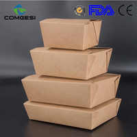 Asia best sale take away kraft paper bread pizza salad box fried chicken cups eco-friendly best quality low price custom design