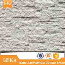 White Sand Marble Wall Cladding Veneer Natural Split & Honed Mix Surface Ledge Stone