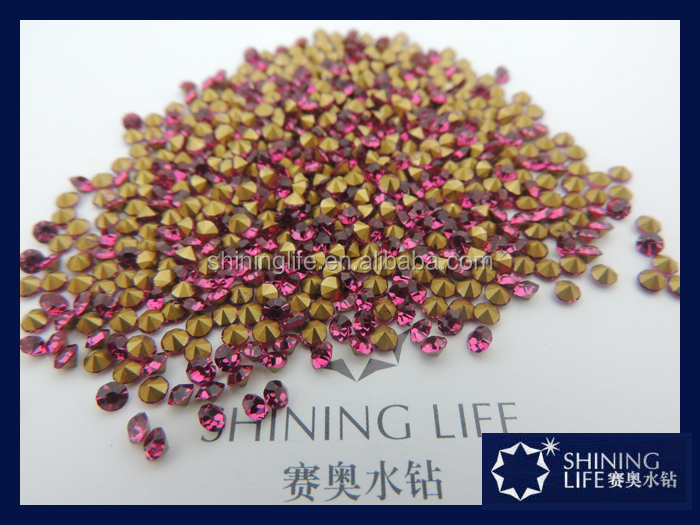 Shinning strass stone fuchsia chatons as 888 chatons for garment accessories