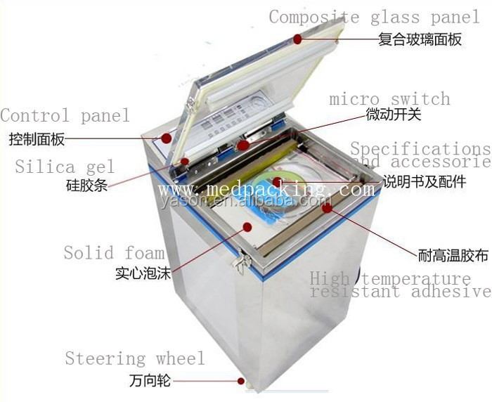 YSDZ--500 vacuum packaging machine vacuum machine tea rice vacuum machine